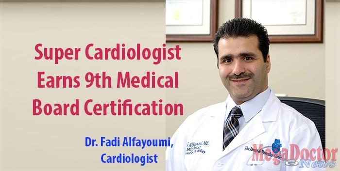 """""""Dr. Fadi Alfayoumi is a board-certified Cardiologist and the Medical Director of Cardiology at Valley Baptist Medical Center at Brownsville, Texas. He earned his ninth board certification adding another milestone to his many accomplishments in various other specialties and sub-specialties of cardiology and internal medicine. Dr. Aflayoumi received his certification in Advanced Heart Failure and Transplant Cardiology by the American Board of Internal Medicine."""