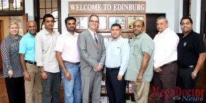 Pictured left to right: Imelda Rodriguez (ECVB- Tourism Director), Nalin Patel, Manish Patel, Rakesh Patel, Scott Joslove (THLA President & CEO), Joe Nunez, Mike Govind, Chandu Hazari and Hiren Govind.