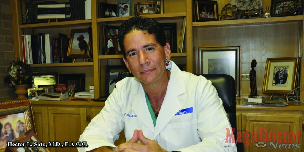 Hector Luis Soto, M.D., F.A.C.C. a cardiologist and Diplomate of the American Board of Internal Medicine, Cardiovascular Disease, and Interventional Cardiology, is originally from the Dominican Republic. Photo by Roberto Hugo Gonzalez