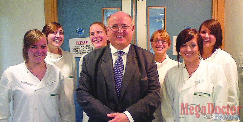 From left to right: Gemma Bowey, Sarah Beane, Sophie Cowper, Dr. Tim Bates, Tammy Wiltshire, Laura Brown, and Hayley Brudzinska.