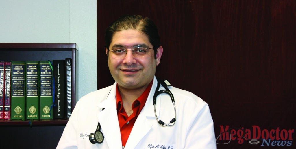 Dr. Irfan A. Agha trained in medicine in Pakistan and came to the United States ten years ago. He did a residency and fellowship at the Washington University in St. Louis and has been in the Valley for the past two years. Story was published on January 2009. Photo by Roberto Hugo Gonzalez