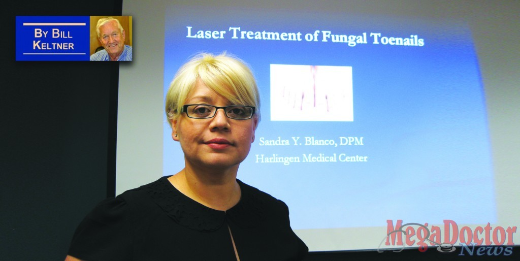 "Dr. Sandra Blanco lectures on ""Laser Treatment of Fungal Toenails"""