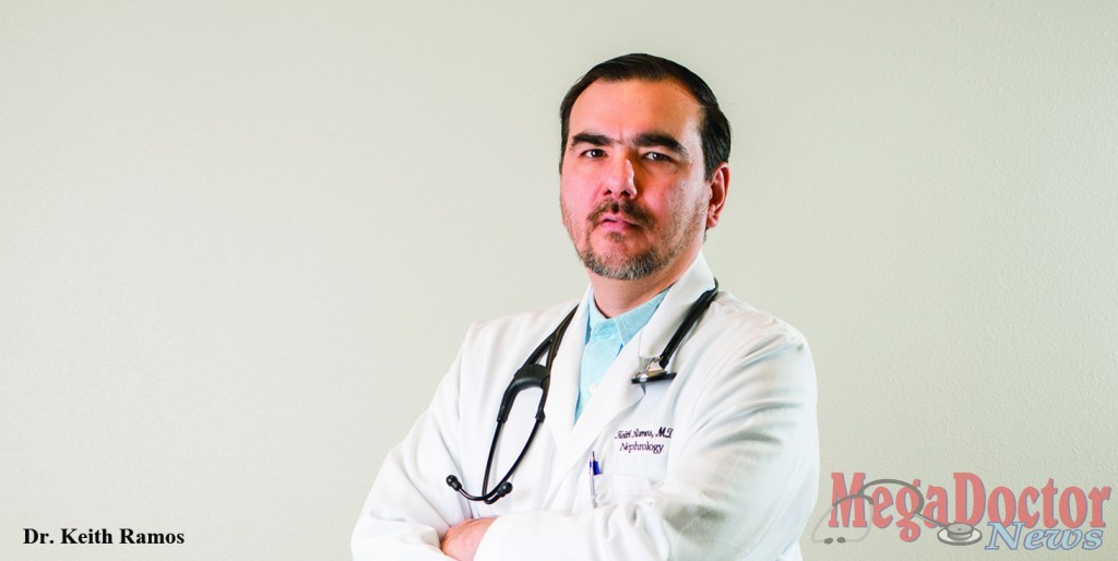 Dr. Keith Ramos nephrologist owns and operates Kidney Doctors of South Texas, P.A.,