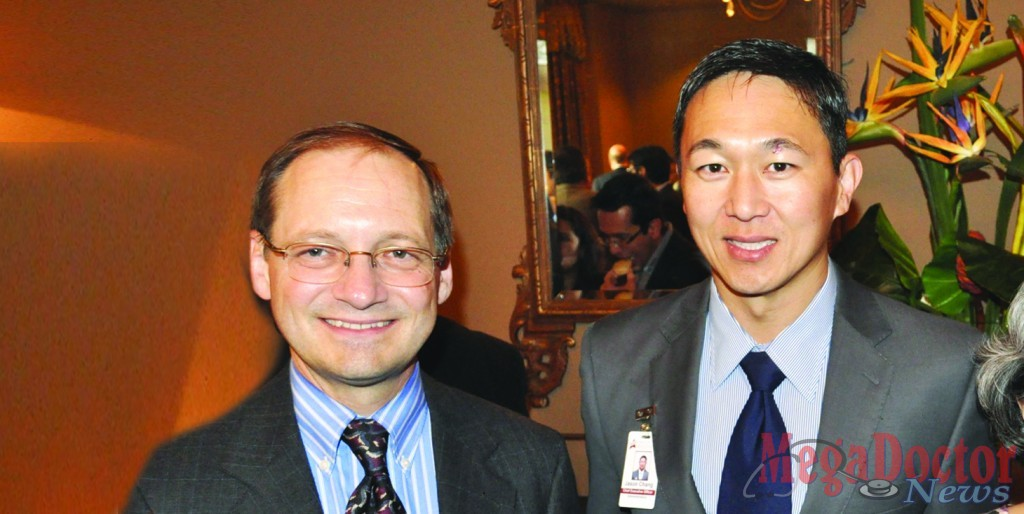 From L-R: Dr. Eric Petersen the newly named McAllen Family Medicine Residency Program Director with Jason Chang Chief Executive Officer for McAllen Heart Hospital. Photo taken during a reception at the McAllen Country Club. Photo Sal Hinojosa