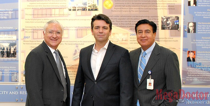 Pictured from L-R: Javier Iruegas, Chief Executive Officer MRMC; George Myers, President/CEO GMCC; Nick Espinosa, Director of Marketing MRMC