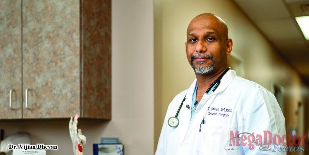 "Dr. Vijian Dhevan, general surgeon in the Valley, spoke recently on ""breast-conserving"" surgery for breast cancer patients at Valley Baptist Medical Center."