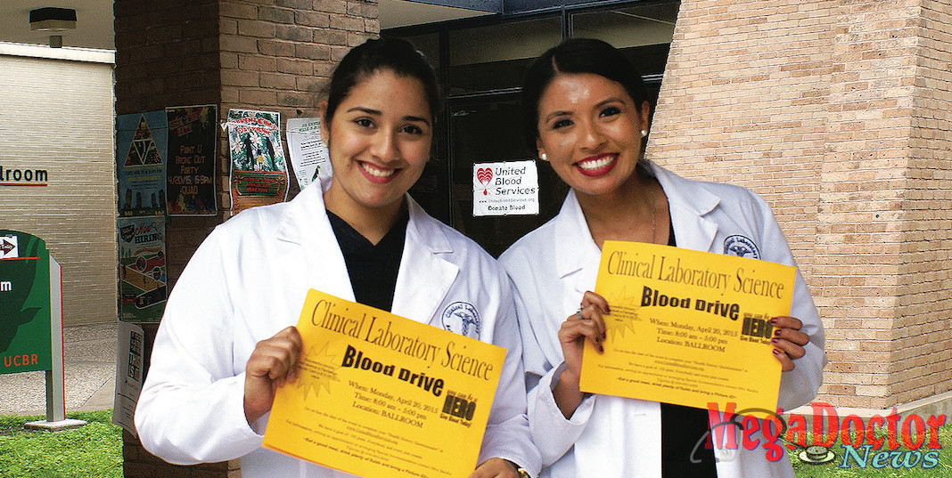 UTRGV students Kezia Correa and Chelsea Cruz are part of the university's Clinical Laboratory Sciences (CLS) Program, which Excelencia in Education has named one of 20 finalists for its national Examples of Excelencia awards. Excelencia in Education is a nonprofit organization focused on providing opportunities for and assuring the success of Latino students. (Courtesy Photo)