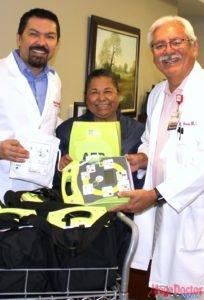 Dr. Robert Sepulveda's idea: donate emergency devices to Weslaco Police; Hospital Volunteers at Knapp Medical Center made it happen.