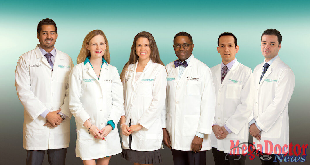 Team of physicians at the DHR Health Diabetes and Endocrinology Institute.