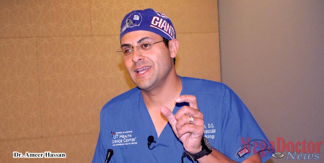 Dr. Ameer Hassan, an investigator in the trial and head of the Neuroscience Department, Director of Endovascular Surgical Neuroradiology, and Director of Clinical Neuroscience Research at Valley Baptist Medical Center-Harlingen. Photo Mega Doctor News