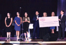 Pictured above, from L-R: Larry Safir, Chairman of Renaissance Cancer Foundation; Jericka L. Gaskamp Renaissance Cancer Foundation; Elizabeth Jondreau, Interim Director DHR Health Advanced Care Center; Marissa Castañeda, DHR Chief Operating Officer and Director of Marketing; and Robert Lucio, Chief Operating Officer; and Natasha Del Barrio, Chief Executive Officer, both with the Bert Ogden Auto Group; and Edna De Saro, Lone Star National Bank Senior Vice President/ Marketing Director; Lone Star National Bank President David De Anda, and Adriana I. Rios. Photo by Roberto Hugo Gonzalez.