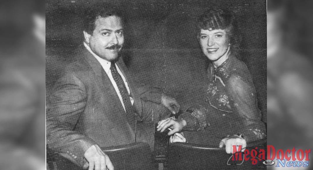 Dr. Carlos Godinez and wife Judy Godinez at a banquet sponsored by The Texas Tech University Health Sciences Center School of Medicine in Lubbock, Texas.