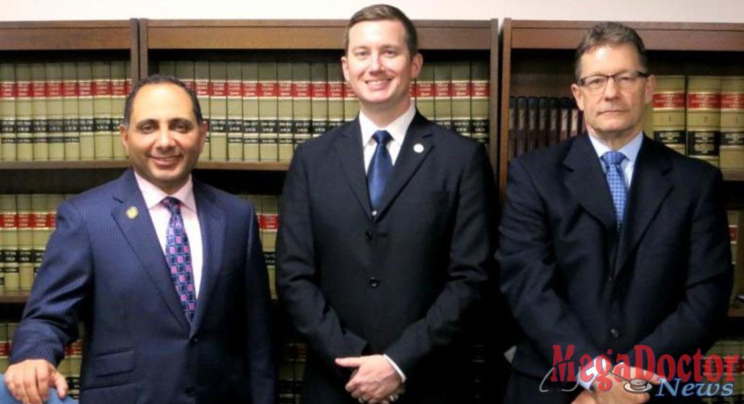 L-R: Dr. Sherif Zaafran, Stephen Brint Carlton, and Scott Freshour