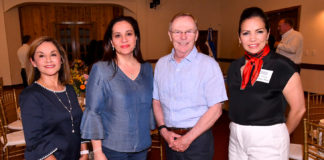 L-R: Sandra Darling; First Lady of Honduras Ana Garcia de Hernandez; McAllen Mayor Jim Darling; and Laura Warren, AIA and also Chairman of McAllen Economic Development Corp. Photo by Roberto Hugo Gonzalez