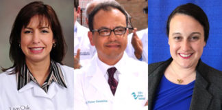 L-R: Dr. Lenore C. DePagter, Dr. Victor H. Gonzalez, and Dr. Laura Faye Gephart.