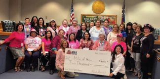 Noble Charities representatives delivered a check for $2,000 to Mile of Hope organization in Brownsville, Texas. Mile of Hope is in its 6th year of inception. On October 28, 2018, members of the organization, sponsors and the community, delivered a big installment of hope to many breast cancer survivors.