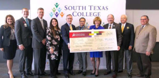South Texas College and South Texas Health System hosted a check presentation Thursday, Jan. 10, 2019. Funds will be used to provide scholarships to Nursing and Allied Health Students.