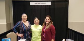 Representatives from Congressman Cuellar's Office meet with Greater Mission Chamber of Commerce CEO Brenda Enriquez during the 24th Annual Community Health Fair in Mission on Saturday. Pictured from left are Constituent Service Representative Alexis Gallegos, Greater Mission Chamber of Commerce CEO Brenda Enriquez, and Outreach Coordinator Nichole Hernandez.