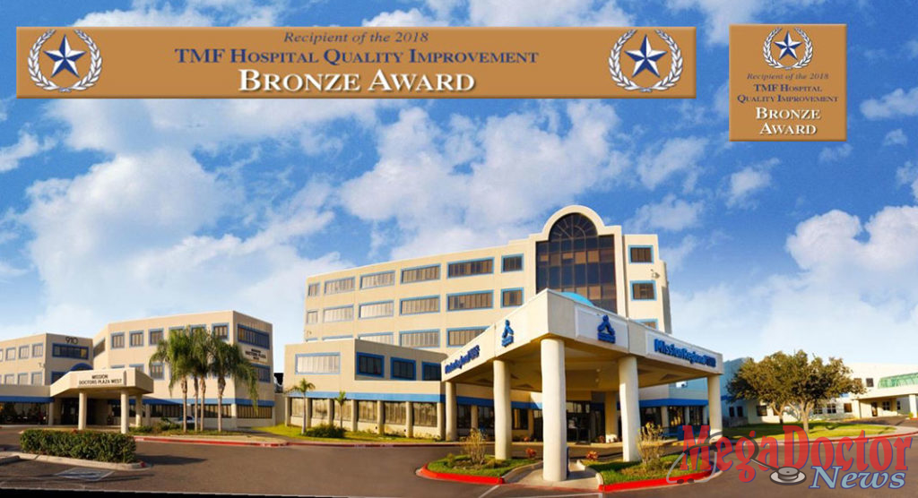 Mission Regional Medical Center has received the TMF Hospital Quality Improvement Bronze Award from TMF® Health Quality Institute.