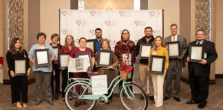 Hospital administrators from across the Rio Grande Valley accepedt certificates of recognition as part of their Workplace Partnership for Life campaigns to promote organ donation at the 11th Annual Thanks From the Heart luncheon.
