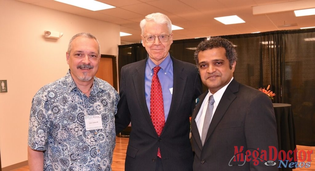 Dr. Carlos Cardenas, Dr. Caldwell B. Esselstyn, Jr. and Dr. Manish Singh.