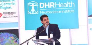 Dr. Juan Padilla, neurosurgeon and Chair of the DHR Health Neuroscience Institute. Photo by Roberto Hugo Gonzalez.
