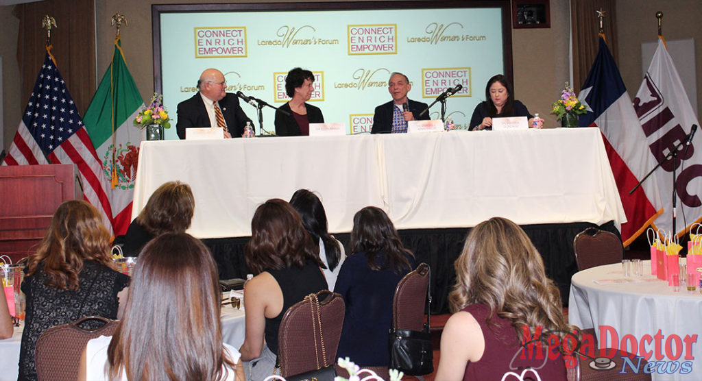 Laredo Womens Forum Panel Left to Right: Elmo Lopez Jr., Dr. Ellen Baker, Dr. Enrique F. Benavides Jr., Dr. Marissa R. Gonzalez.