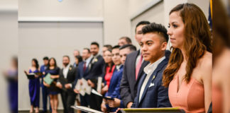 South Texas College's Physical Therapist Assistant Program celebrated its 20th anniversary by graduating 19 students at a special pinning ceremony May 21.