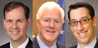 James Stansel, Senator John Cornyn, and Michael Carrier