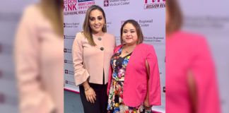 Pictured (Left to right): Paola Lopez, Marketing Manager, Mission Regional Medical Center and April Chapa, Senior Community Development Manager, American Cancer Society