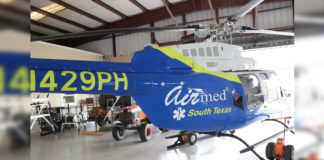 Featured: A Bell 407 rotor (helicopter) ambulance, named Air Med 1, is the newest addition to the fleet of ground and air emergency medical transportation services being provided to South Texas by Hidalgo County EMS/South Texas Air Med. A ribbon cutting ceremony and press conference for the advanced, life-saving Air Med 1 will take place on Tuesday, June 18, 2019, beginning at 10 a.m., at the South Texas International Airport at Edinburg, located at 1300 E. FM 490, which is about 12 miles from the Hidalgo County Courthouse traveling on I-69N. For more information, individuals may contact Paul M. Vazaldua, Jr., Vice President of Organizational Leadership and Government Affairs for Hidalgo County EMS/South Texas Air Med, at 956/451-6775. Photograph Courtesy HIDALGO COUNTY EMS/SOUTH TEXAS AIR MED