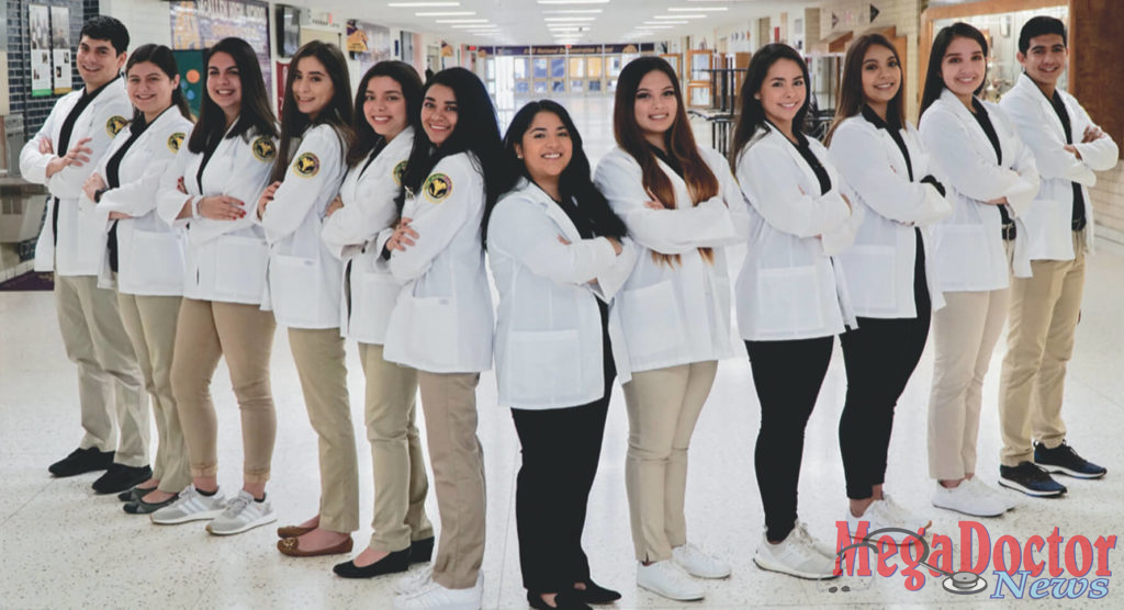 McAllen ISD Students who earned their Certification as Pharmacy Technicians.