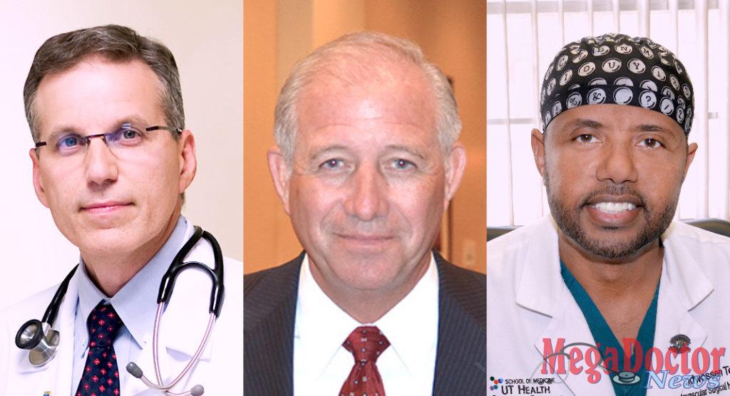 Lee H. Schwamm, M.D.; Manny Vela, CEO; and Dr. Wondwossen Tekle.